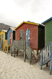 Vecchie capanne della spiaggia Immagini Stock