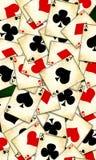 Vecchie carte da gioco illustrazione vettoriale