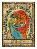 Vecchie carte di tarocchi Piattaforma piena resistenza royalty illustrazione gratis
