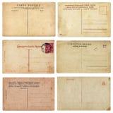 Vecchie cartoline dell'annata fotografie stock libere da diritti