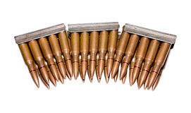 Vecchie cartucce del fucile Immagine Stock