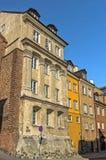Vecchie case in affitto, Varsavia Immagine Stock Libera da Diritti