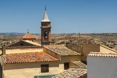 Vecchie case in Almudevar (l'Aragona) Fotografia Stock