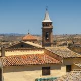 Vecchie case in Almudevar (l'Aragona) Fotografie Stock Libere da Diritti