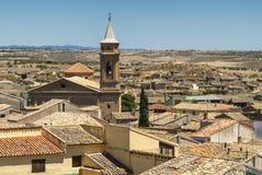 Vecchie case in Almudevar (l'Aragona) Immagine Stock