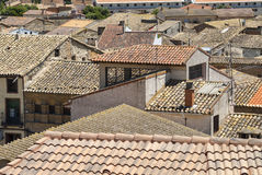 Vecchie case in Almudevar (l'Aragona) Fotografia Stock Libera da Diritti