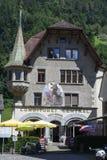 Vecchie case a Altdorf nel Cantone di Uri, Svizzera Immagini Stock