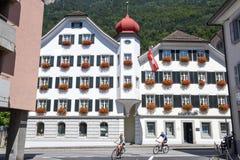 Vecchie case a Altdorf nel Cantone di Uri, Svizzera Immagini Stock Libere da Diritti
