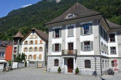 Vecchie case a Altdorf nel Cantone di Uri, Svizzera Immagine Stock Libera da Diritti