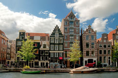 Vecchie case a Amsterdam Fotografie Stock