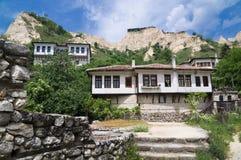 Vecchie case bulgare in Melnik Fotografia Stock Libera da Diritti