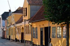 Vecchie case in Danimarca Fotografia Stock