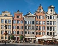 Vecchie case a Danzica, Polonia Fotografie Stock Libere da Diritti