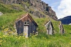 Vecchie case del coltivatore Immagine Stock