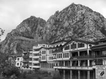 Vecchie case dell'ottomano Fotografia Stock