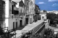 Vecchie case di Bernalda Italia Immagini Stock