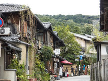 Vecchie case di Gion Fotografia Stock Libera da Diritti
