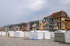 Vecchie case di Le Treport Fotografia Stock Libera da Diritti