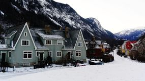 Vecchie case di legno variopinte Fotografia Stock Libera da Diritti
