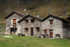 Vecchie case di pietra Fotografia Stock Libera da Diritti