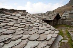 Vecchie case di pietra Fotografia Stock