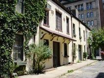 Vecchie case in Greenwich Village, NY Fotografie Stock Libere da Diritti