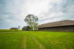 Vecchie case in Lituania Fotografie Stock