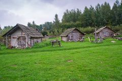 Vecchie case medievali Fotografia Stock Libera da Diritti