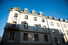 Vecchie case a Monaco di Baviera - schwabing Immagine Stock