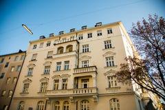 Vecchie case a Monaco di Baviera - schwabing Immagini Stock