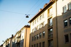 Vecchie case a Monaco di Baviera - schwabing Fotografie Stock