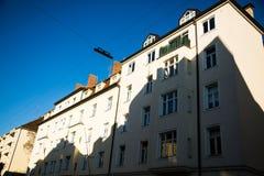 Vecchie case a Monaco di Baviera - schwabing Fotografia Stock Libera da Diritti