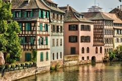 Vecchie case nel distretto di La Petite France a Strasburgo Fotografie Stock Libere da Diritti