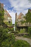 Vecchie case olandesi a New York fotografie stock