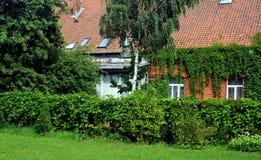Vecchie case prussiane nella città di Zelenogradsk, Russia Immagine Stock