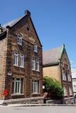 Vecchie case in Quebec Immagini Stock