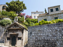 Vecchie case in Ragusa Immagine Stock