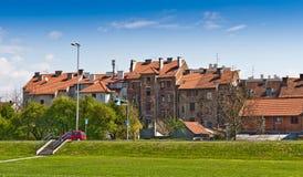 Vecchie case residenziali a Zagabria fotografia stock libera da diritti