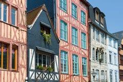 Vecchie case a Rouen Immagini Stock Libere da Diritti