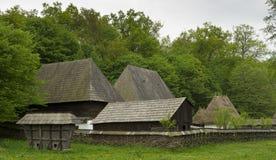 Vecchie case a Sibiu Romania Fotografia Stock