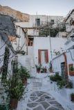Vecchie case sotto l'acropoli Immagine Stock Libera da Diritti