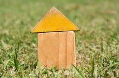 Vecchie case su erba verde Fotografie Stock Libere da Diritti