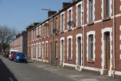 Vecchie case a terrazze di Lingua gallese Immagini Stock Libere da Diritti