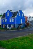 Vecchie case tipiche, in Akureyri Fotografie Stock Libere da Diritti