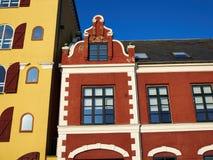 Vecchie case tradizionali variopinte Danimarca Fotografia Stock