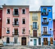 Vecchie case variopinte fotografia stock