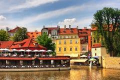 Vecchie case variopinte di Praga. Fotografia Stock Libera da Diritti
