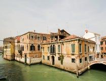 Vecchie case a Venezia Immagini Stock