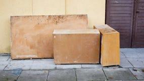 Vecchie caselle Fotografia Stock Libera da Diritti