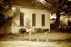 Vecchie scatole della posta di modo fotografia stock